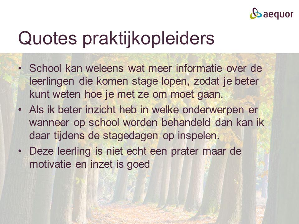 Quotes praktijkopleiders