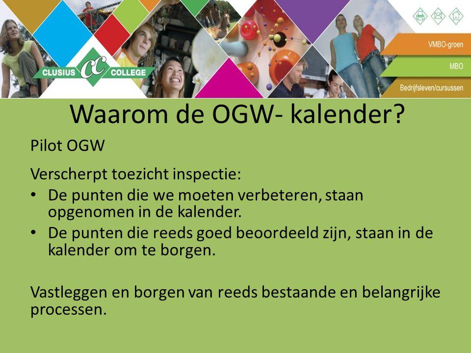 Waarom de OGW- kalender