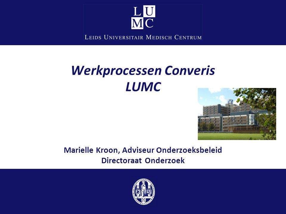 Werkprocessen Converis LUMC