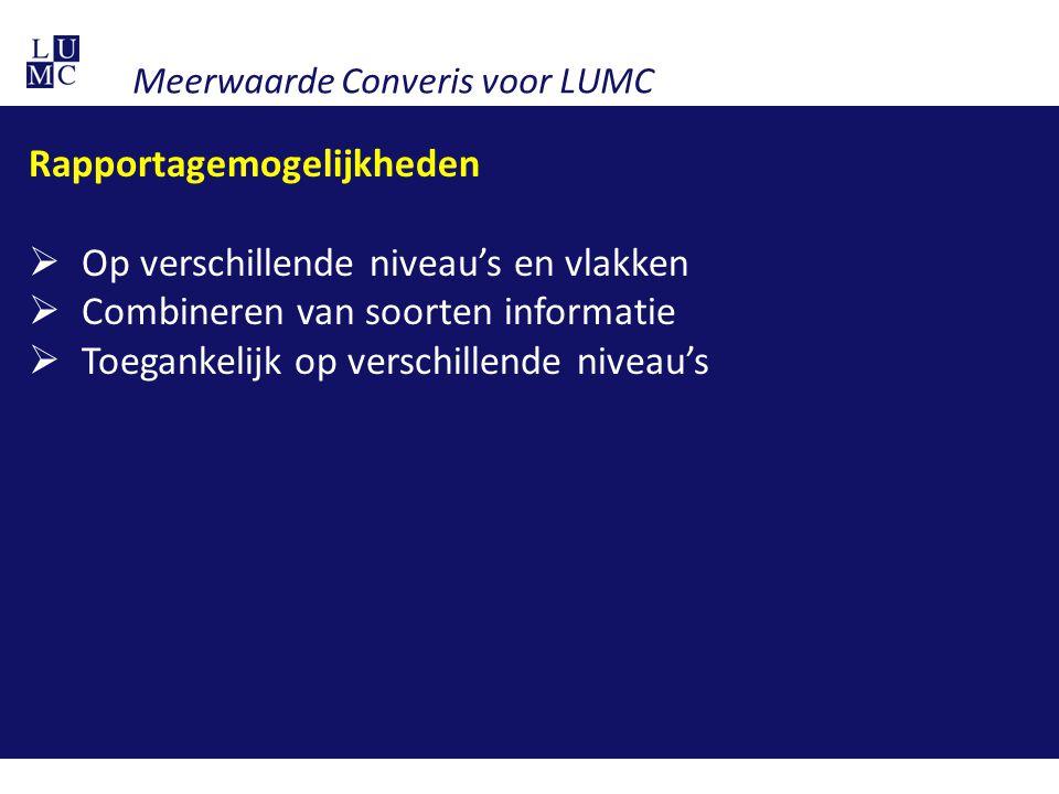 Meerwaarde Converis voor LUMC