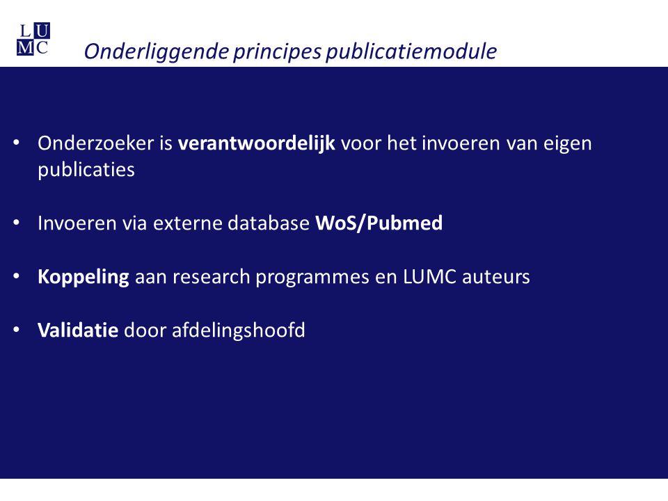 Onderliggende principes publicatiemodule