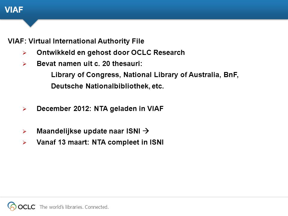 VIAF VIAF: Virtual International Authority File
