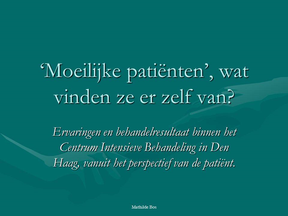 'Moeilijke patiënten', wat vinden ze er zelf van