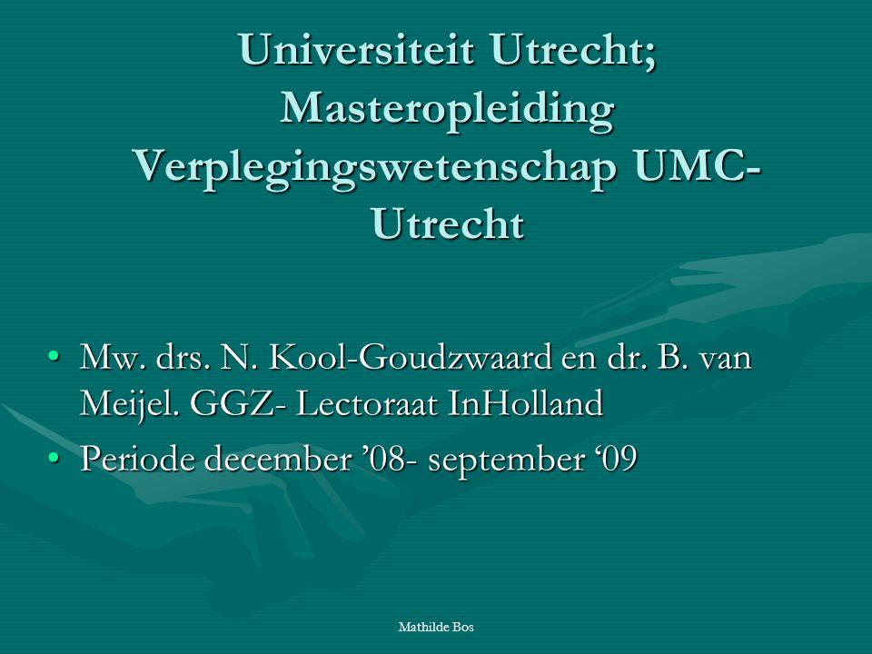 Universiteit Utrecht; Masteropleiding Verplegingswetenschap UMC-Utrecht