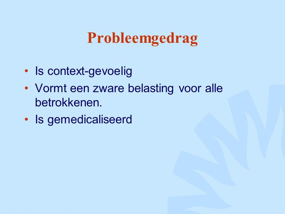 Probleemgedrag Is context-gevoelig