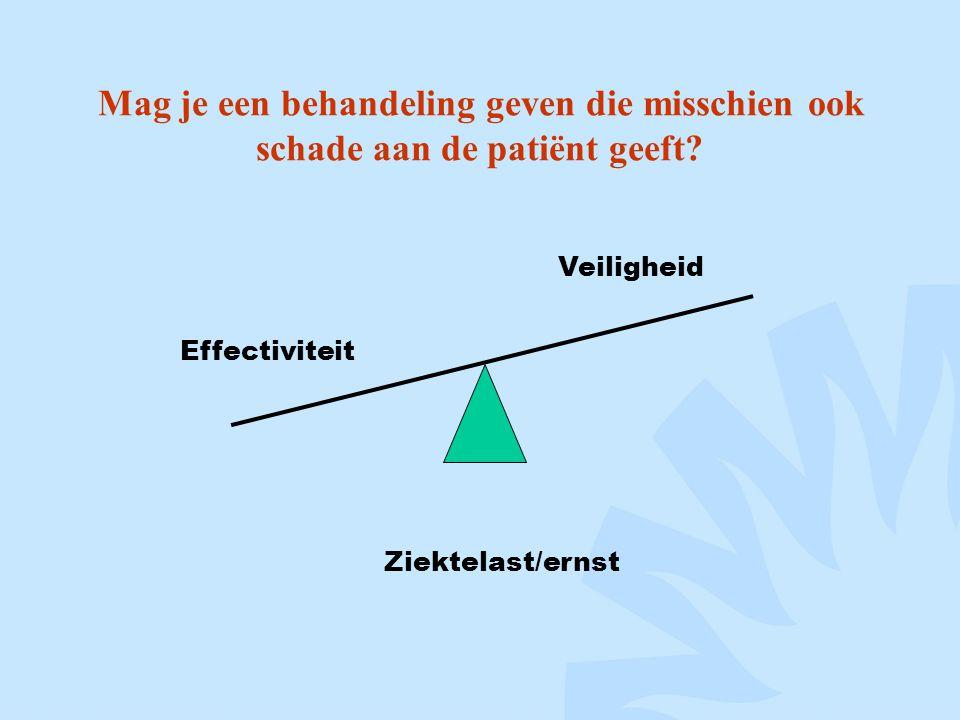 Mag je een behandeling geven die misschien ook schade aan de patiënt geeft