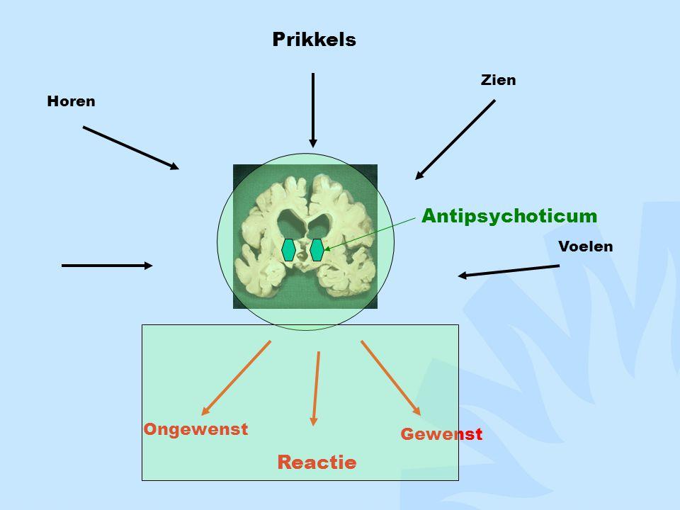 Prikkels Zien Horen Antipsychoticum Voelen Ongewenst Reactie Gewenst