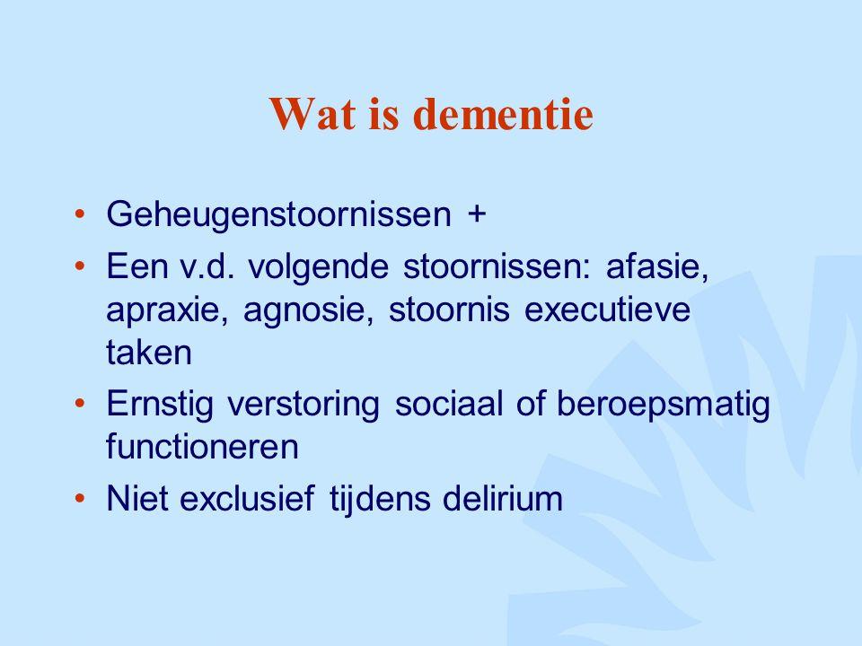Wat is dementie Geheugenstoornissen +