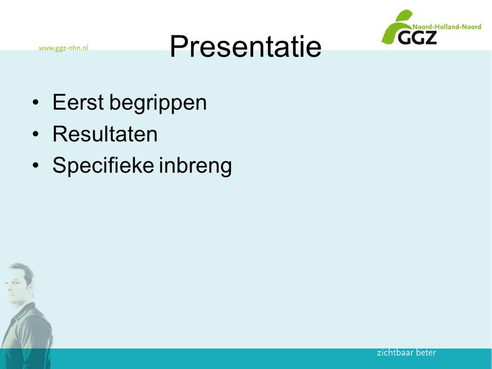 Presentatie Eerst begrippen Resultaten Specifieke inbreng 2
