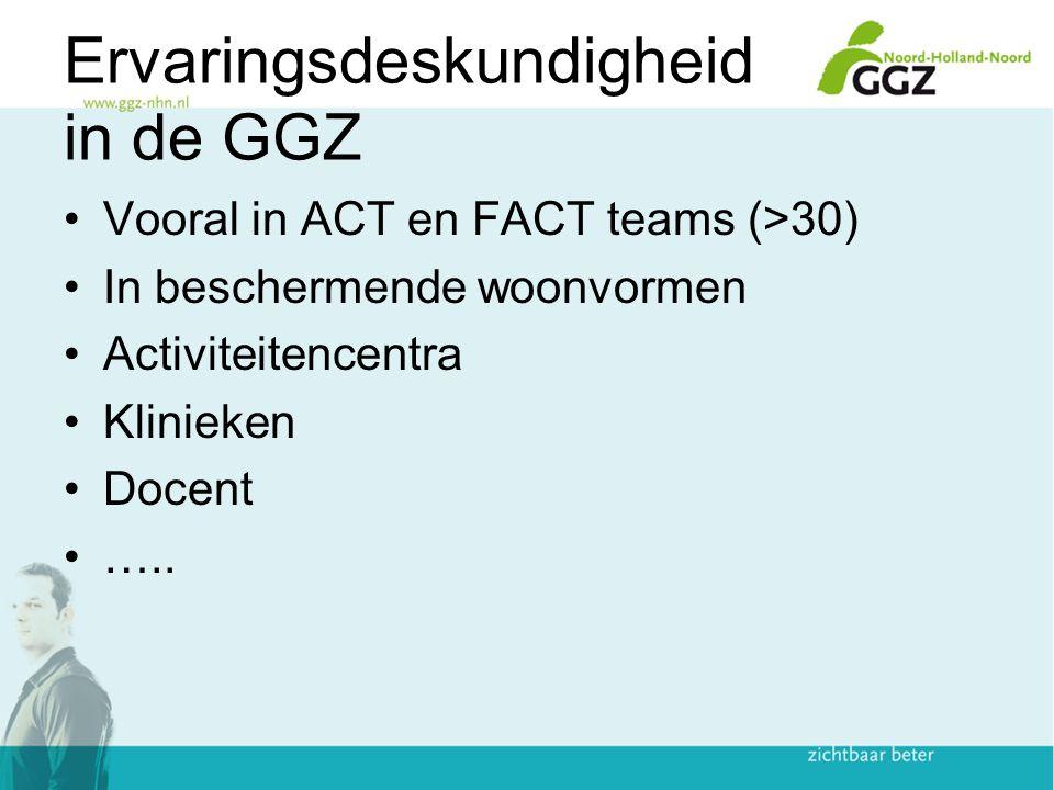 Ervaringsdeskundigheid in de GGZ