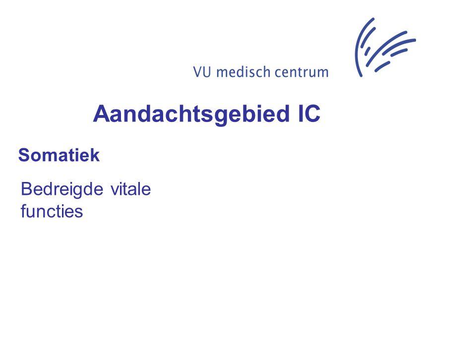 Aandachtsgebied IC Somatiek Bedreigde vitale functies