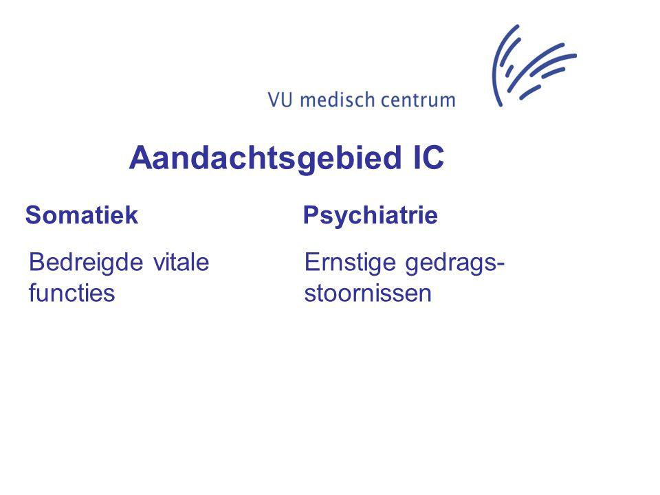 Aandachtsgebied IC Somatiek Psychiatrie Bedreigde vitale functies