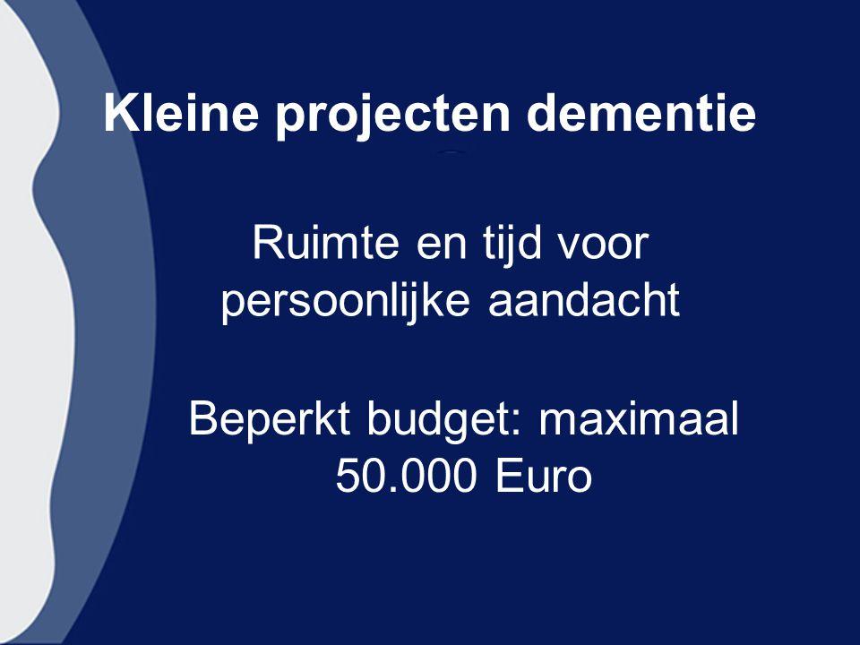 Kleine projecten dementie