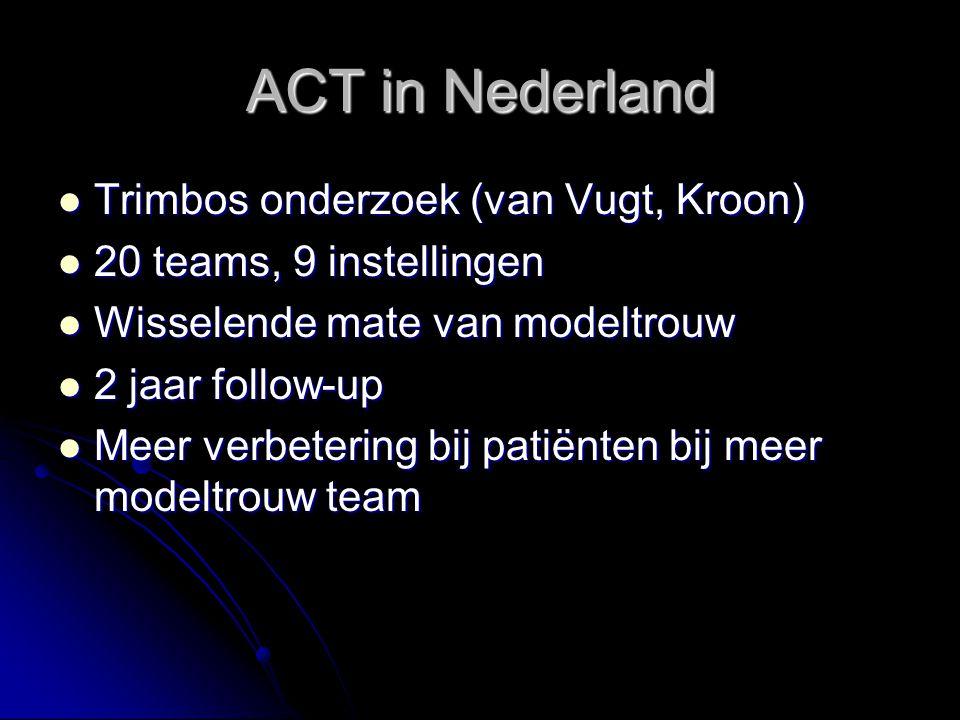 ACT in Nederland Trimbos onderzoek (van Vugt, Kroon)