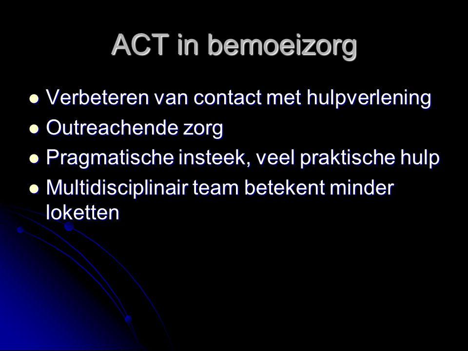 ACT in bemoeizorg Verbeteren van contact met hulpverlening
