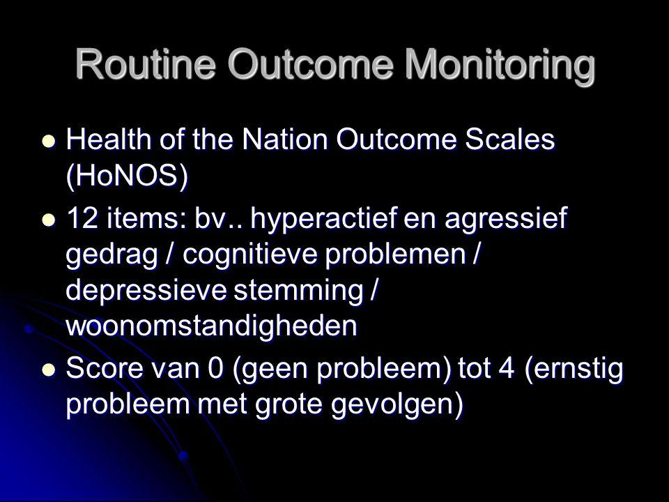 Routine Outcome Monitoring