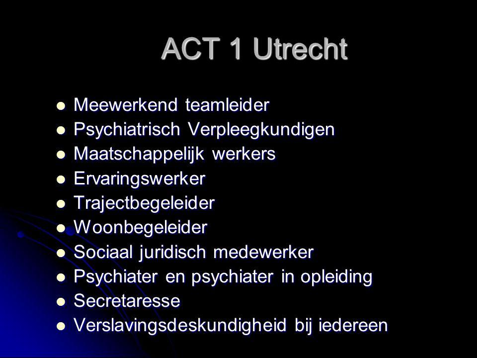 ACT 1 Utrecht Meewerkend teamleider Psychiatrisch Verpleegkundigen