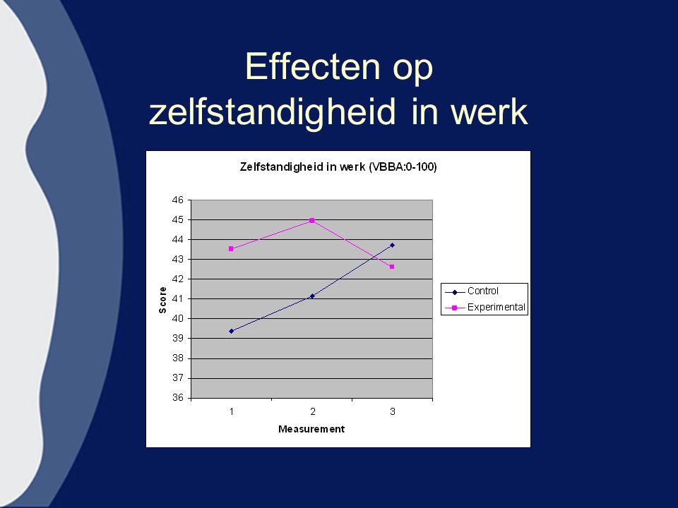 Effecten op zelfstandigheid in werk
