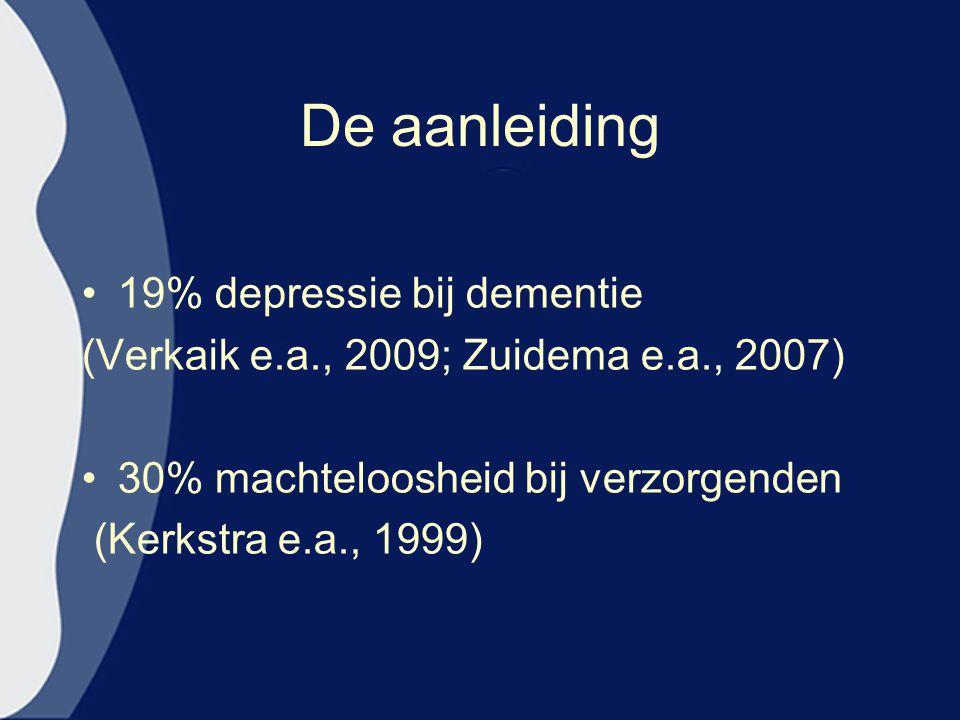 De aanleiding 19% depressie bij dementie
