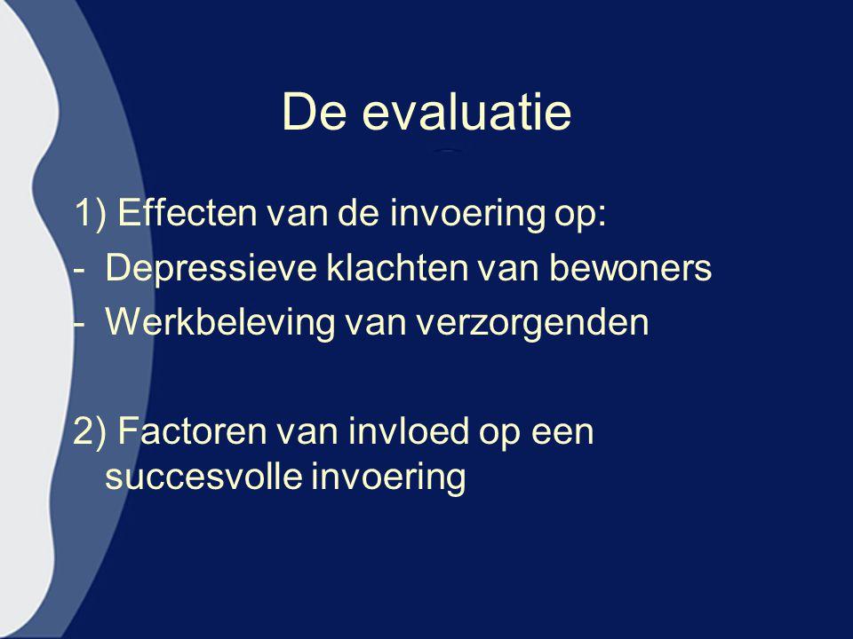 De evaluatie 1) Effecten van de invoering op: