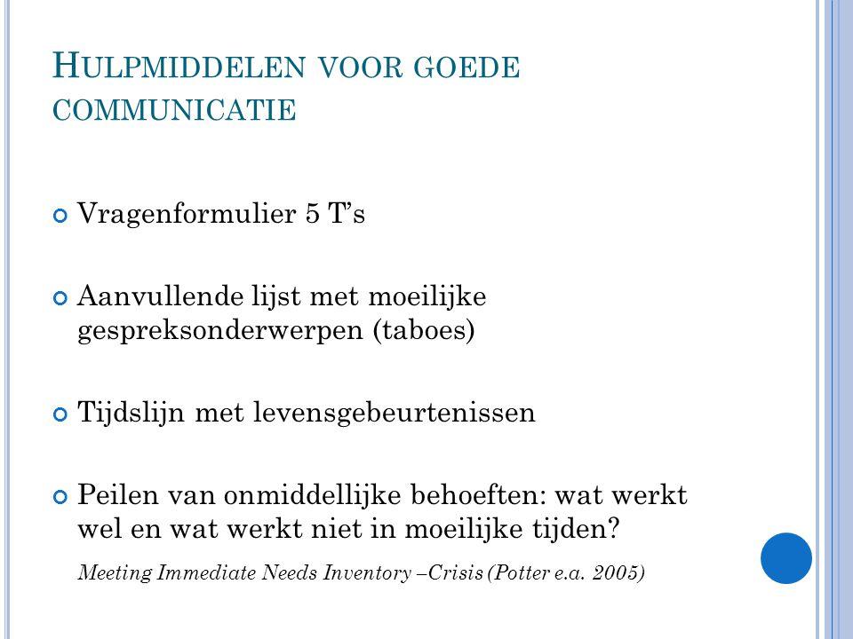 Hulpmiddelen voor goede communicatie