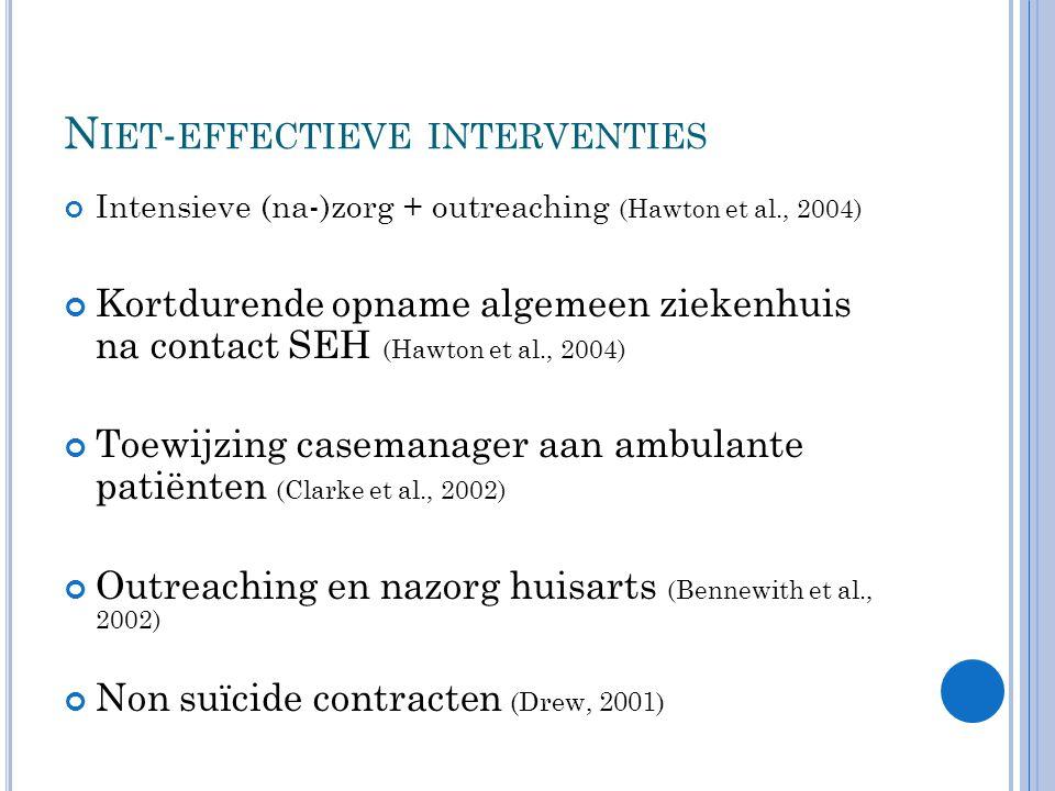 Niet-effectieve interventies