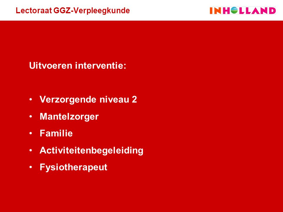 Lectoraat GGZ-Verpleegkunde