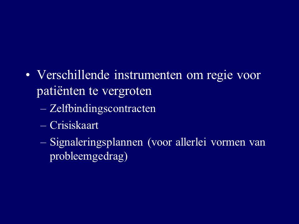 Verschillende instrumenten om regie voor patiënten te vergroten