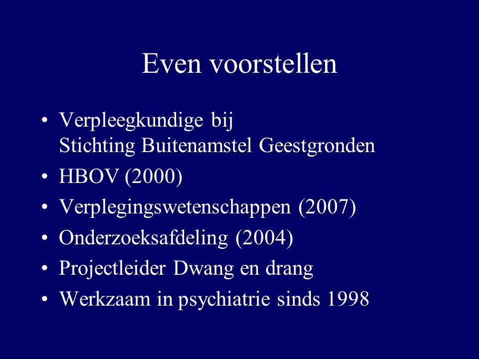 Even voorstellen Verpleegkundige bij Stichting Buitenamstel Geestgronden. HBOV (2000)