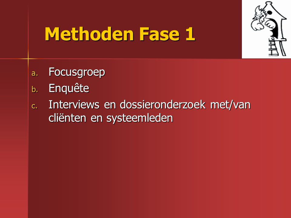 Methoden Fase 1 Focusgroep Enquête