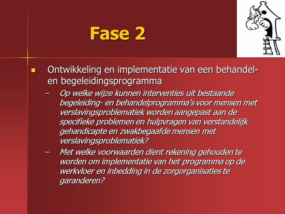 Fase 2 Ontwikkeling en implementatie van een behandel- en begeleidingsprogramma.