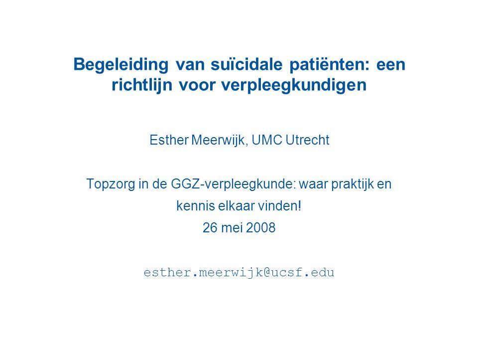 Esther Meerwijk, UMC Utrecht