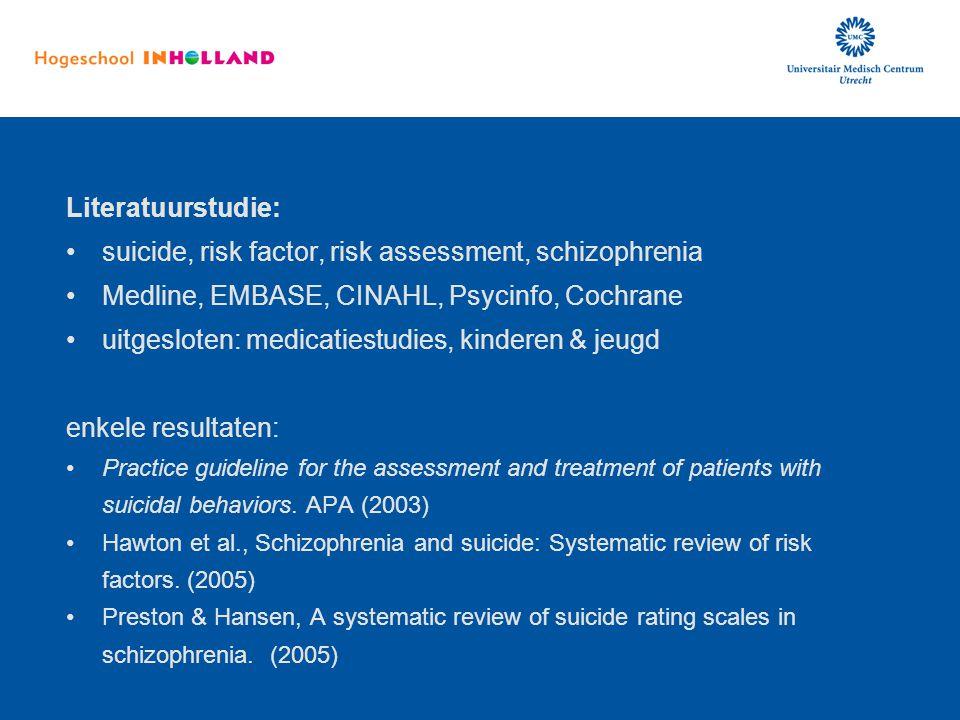 suicide, risk factor, risk assessment, schizophrenia