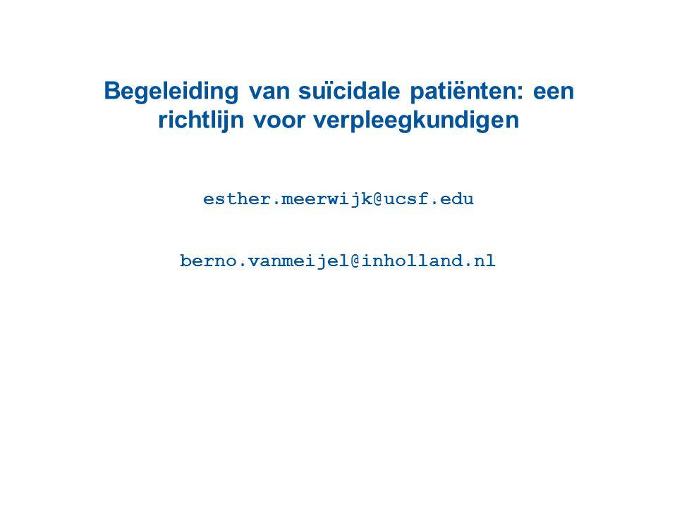 esther.meerwijk@ucsf.edu berno.vanmeijel@inholland.nl