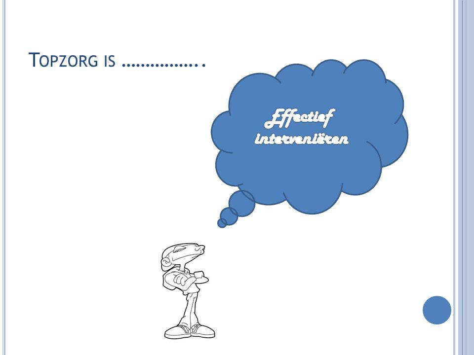 Topzorg is …………….. Effectief interveniëren