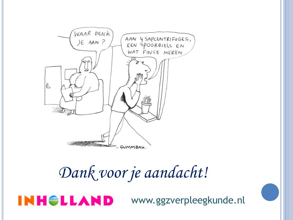 Dank voor je aandacht! www.ggzverpleegkunde.nl