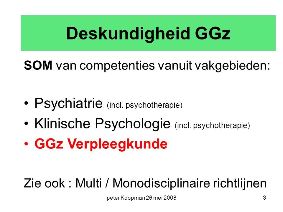 Deskundigheid GGz Psychiatrie (incl. psychotherapie)