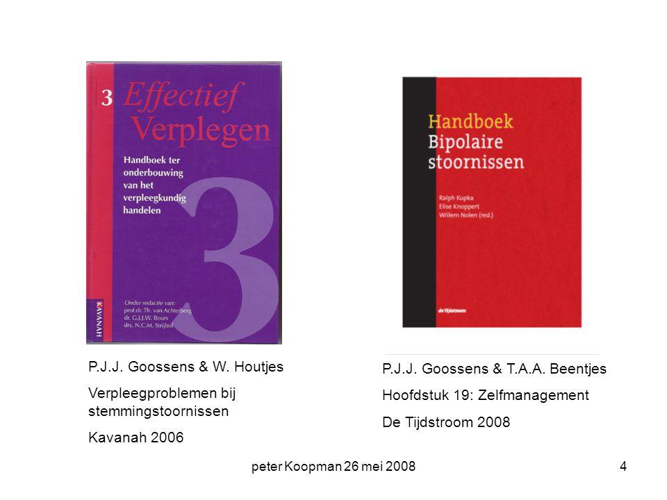 P.J.J. Goossens & W. Houtjes Verpleegproblemen bij stemmingstoornissen