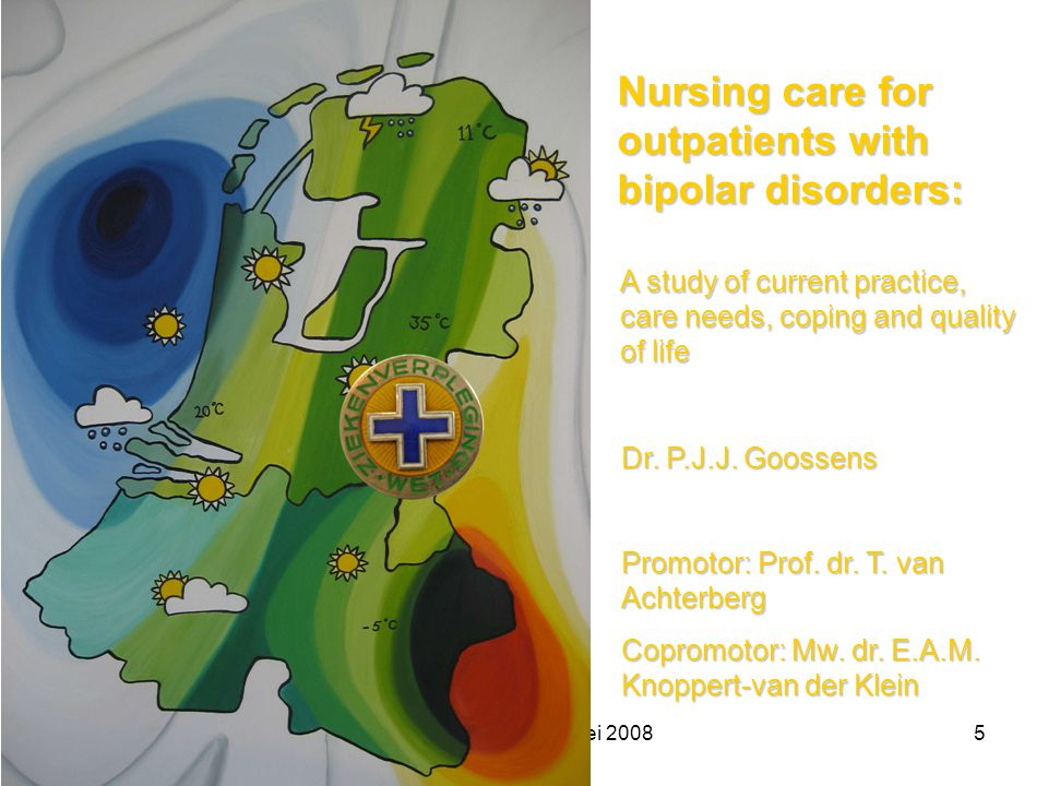 Nursing care for outpatients with bipolar disorders: