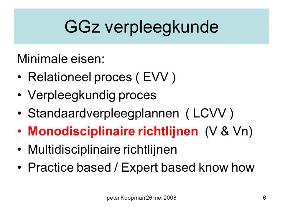 GGz verpleegkunde Minimale eisen: Relationeel proces ( EVV )