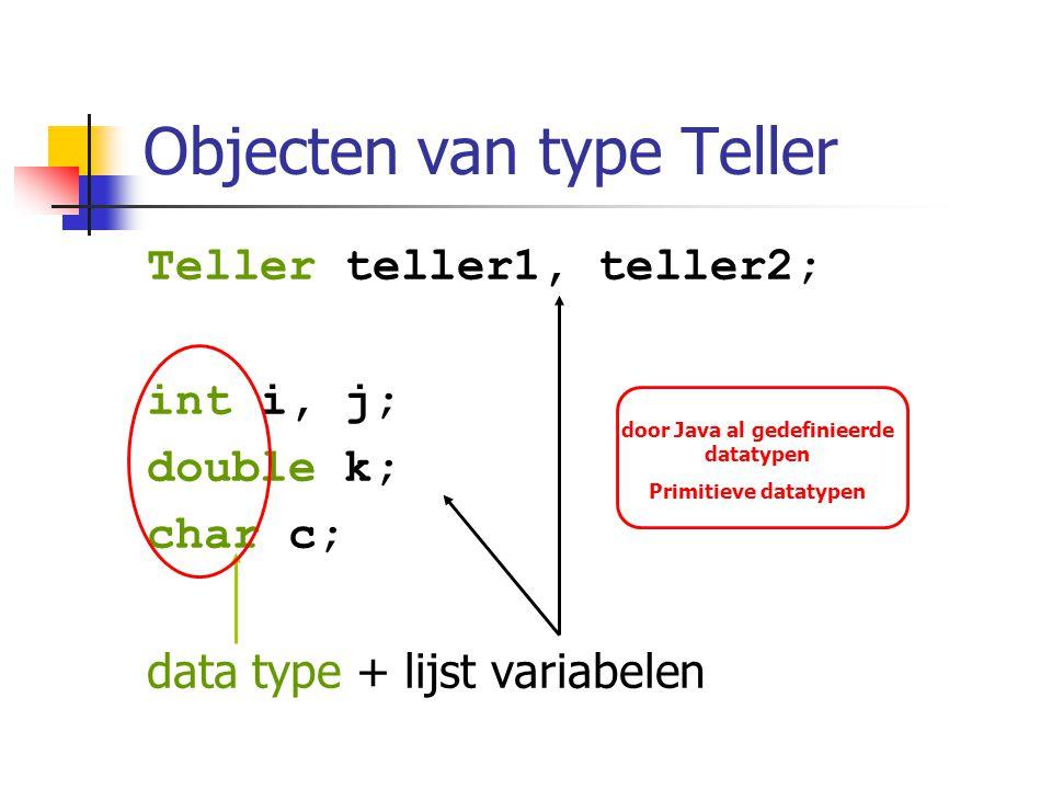 Objecten van type Teller