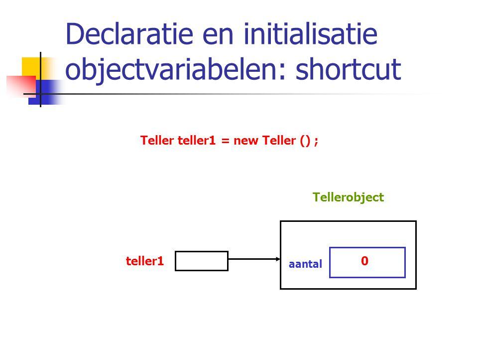 Declaratie en initialisatie objectvariabelen: shortcut