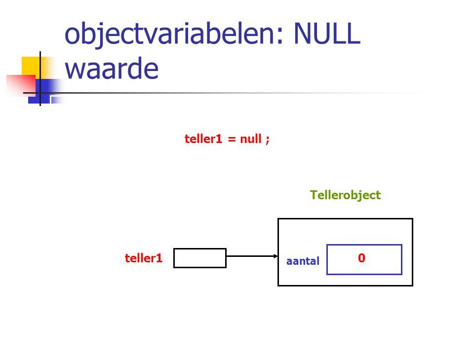 objectvariabelen: NULL waarde