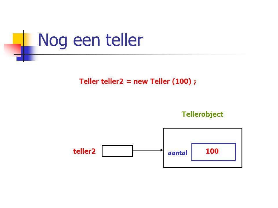 Teller teller2 = new Teller (100) ;