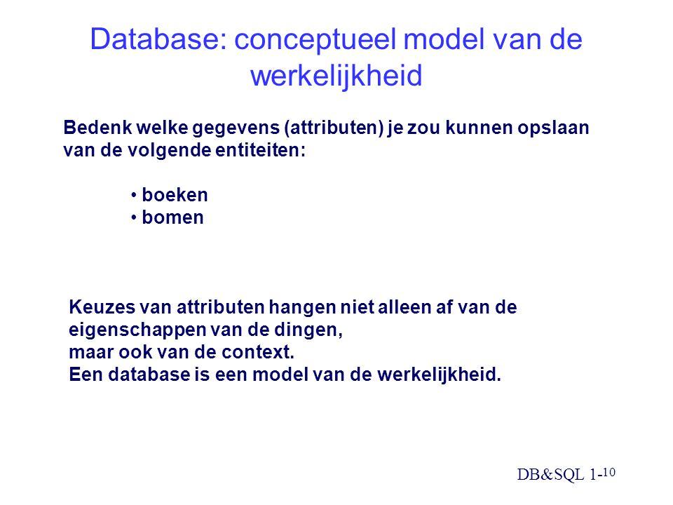 Database: conceptueel model van de werkelijkheid