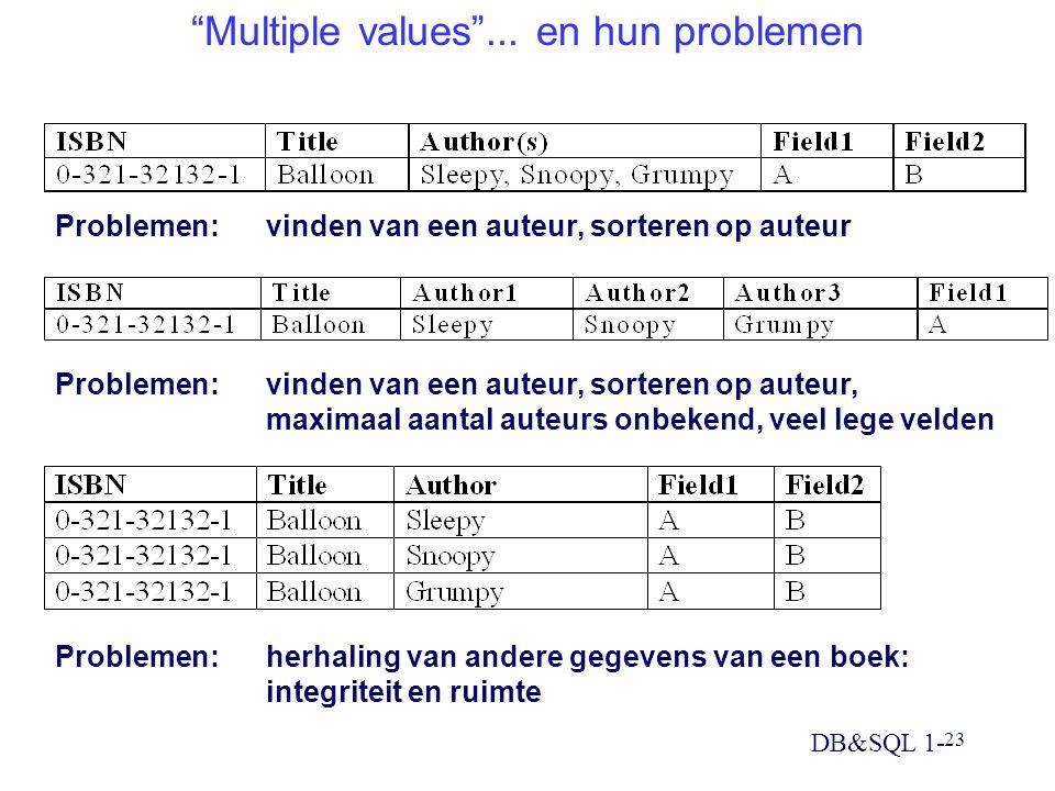 Multiple values ... en hun problemen