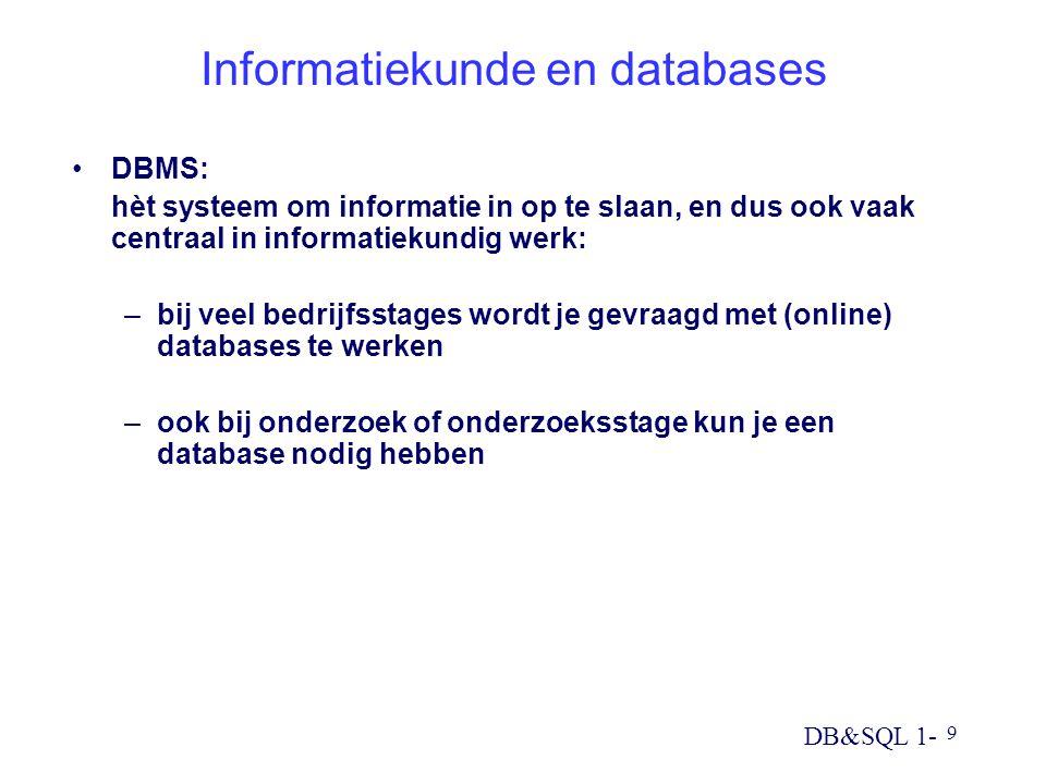 Informatiekunde en databases