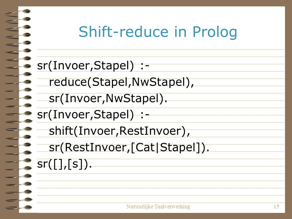 Shift-reduce in Prolog