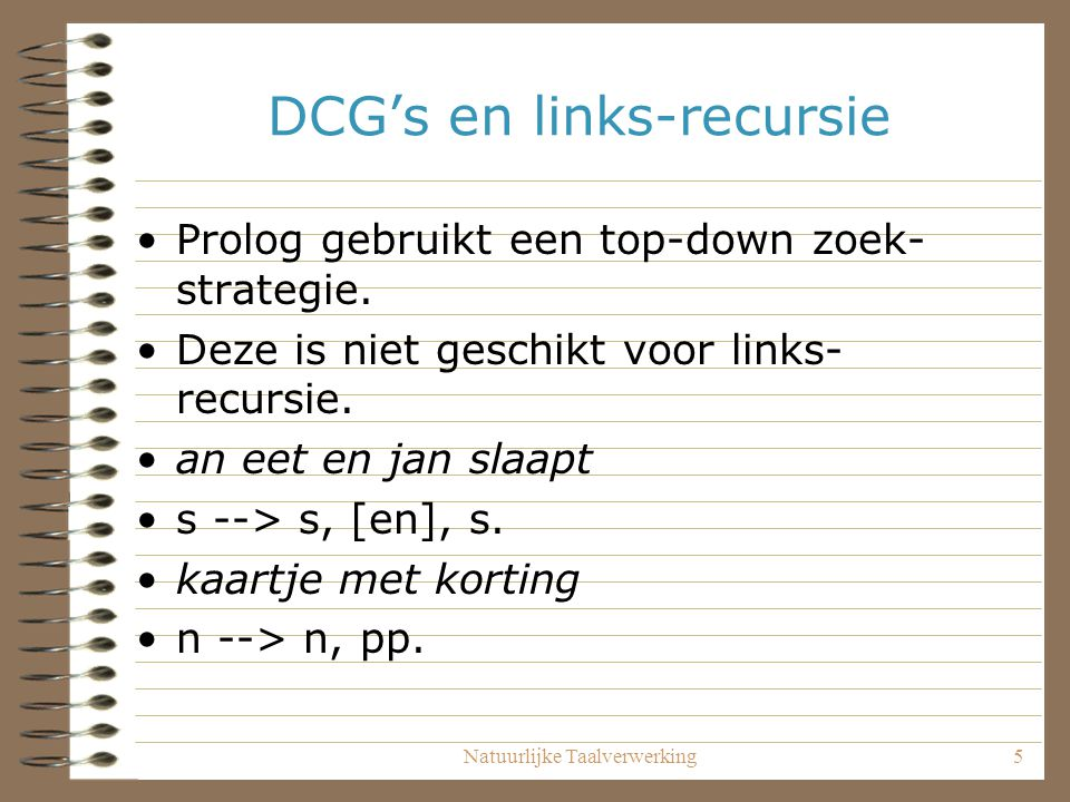 DCG's en links-recursie