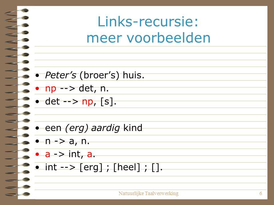 Links-recursie: meer voorbeelden